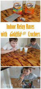 Indoor Relay Races with Goldfish® Crackers