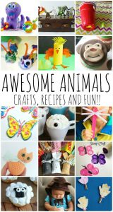 Animal Ideas- Kid Crafts, Recipes and More {MMM #373 Block Party}