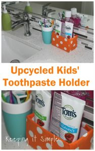 Upcycled Kids' Toothpaste Holder