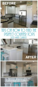 Tips On How to Replace Countertops In Your Kitchen {Iced White Quartz}