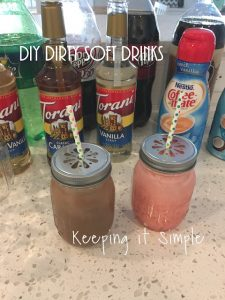 Backyard Food Ideas: DIY Dirty Soft Drinks and Hot Dog Roast