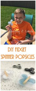 DIY Fidget Spinner Popsicles