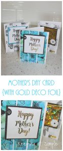 Mother's Day Card with Gold Deco Foil