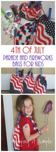4th of July Parade and Fireworks Bags for Kids