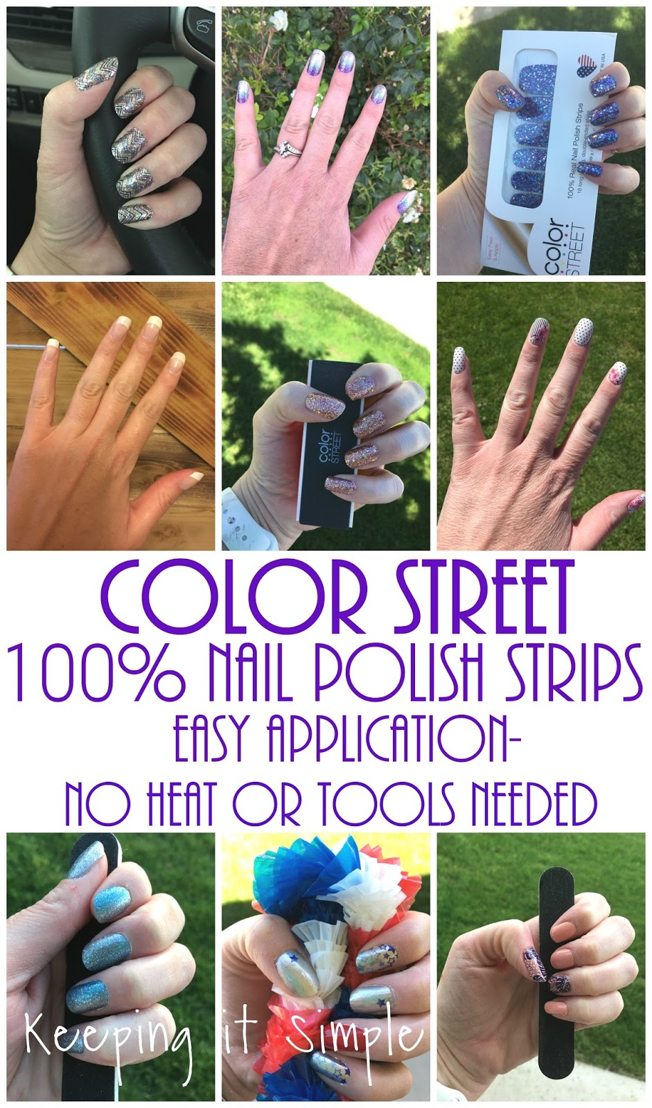 Introducing color street 100 nail polish strips easy for Nail polish coloring page