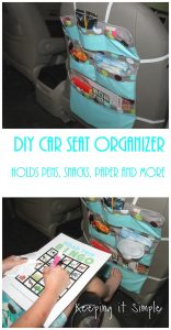 DIY Car Seat Organizer- Perfect for Road Trips