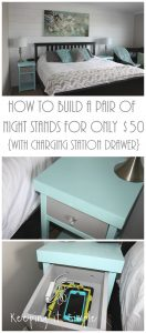 How to Build a Pair of Night Stands for Only $50 {With a Charging Station Drawer}