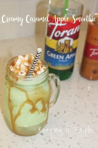 Creamy Caramel Apple Smoothie Recipe