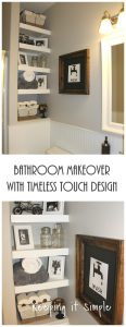 Bathroom Makeover with Timeless Touch Design