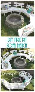 DIY Fire Pit Bench with Step by Step Insructions