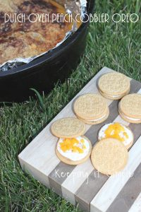 Dutch Oven Peach Cobbler OREO