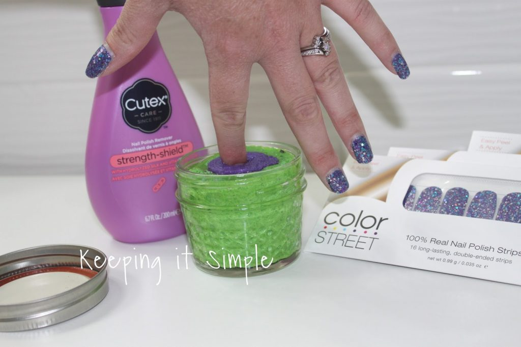 tips on how to remove color street glitter nail polish easily keeping it simple crafts. Black Bedroom Furniture Sets. Home Design Ideas