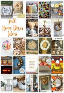 Fall Home Decor Ideas {MMM #400 Block Party}