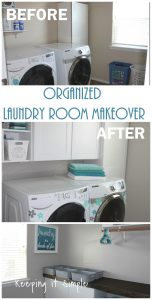 Organized Laundry Room Makeover