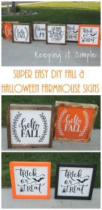 Super Easy DIY Fall and Halloween Farmhouse Signs