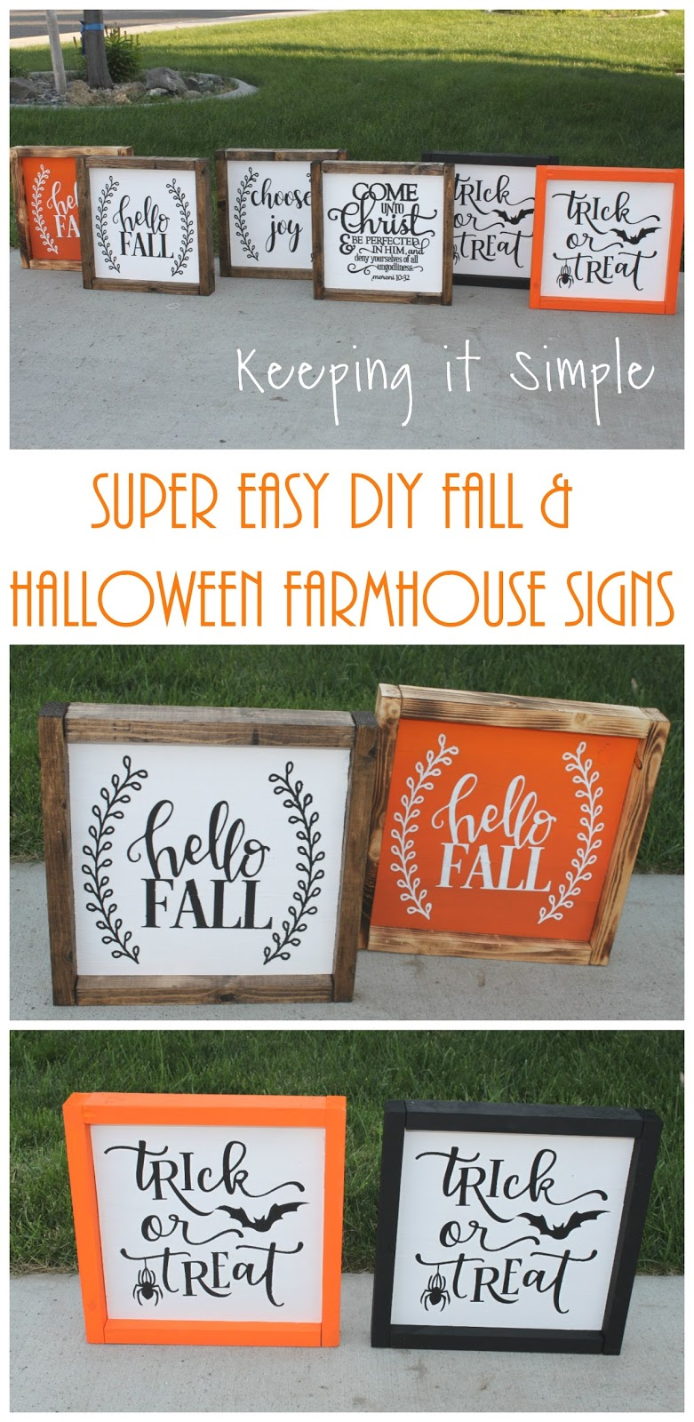 3 Easy Diy Storage Ideas For Small Kitchen: Super Easy DIY Fall And Halloween Farmhouse Signs
