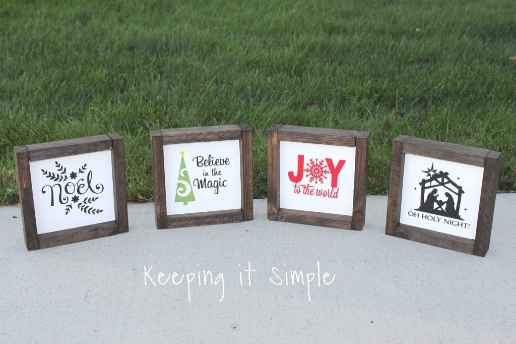 Christmas Neighbor Gift Idea Diy Small Farmhouse Signs