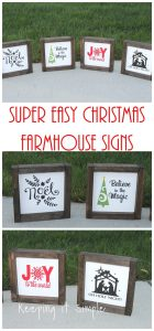 Christmas Neighbor Gift Idea- DIY Small Farmhouse Signs