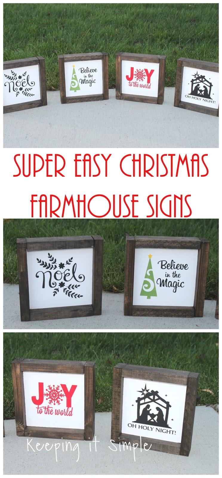 Christmas Neighbor Gift Idea Diy Small Farmhouse Signs