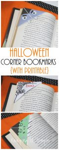 Halloween Monsters Corner Bookmarks with Free Printable
