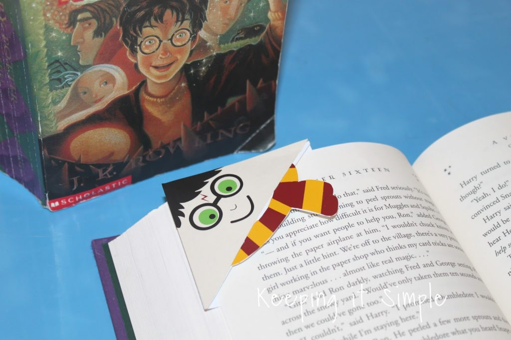 Harry Potter Corner Bookmark With Printable