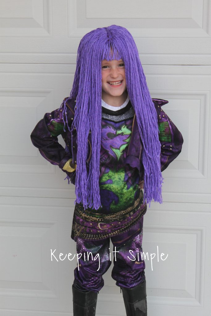 Purple Yarn Wig for Mal from Descendants 2 Costume • Keeping