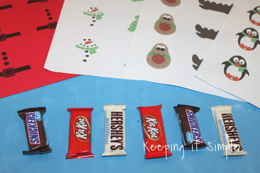 picture relating to Snowman Candy Bar Wrapper Free Printable called Straightforward Xmas Take care of - Sweet Bars with Printable Wrappers