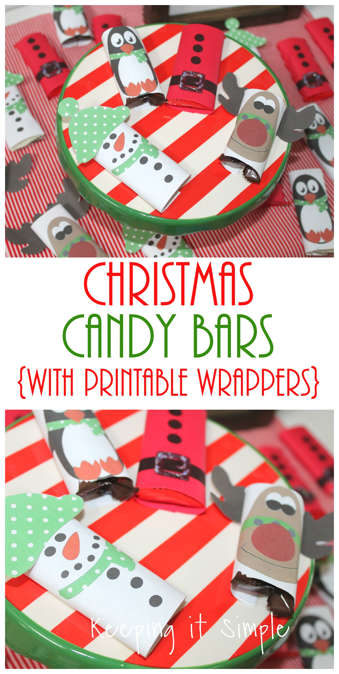Easy Christmas Treat Candy Bars With Printable Wrappers Keeping It Simple