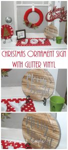 Christmas Sign with Glitter Vinyl