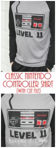 Classic Nintendo Controller Birthday Shirt {Free SVG Cut File}