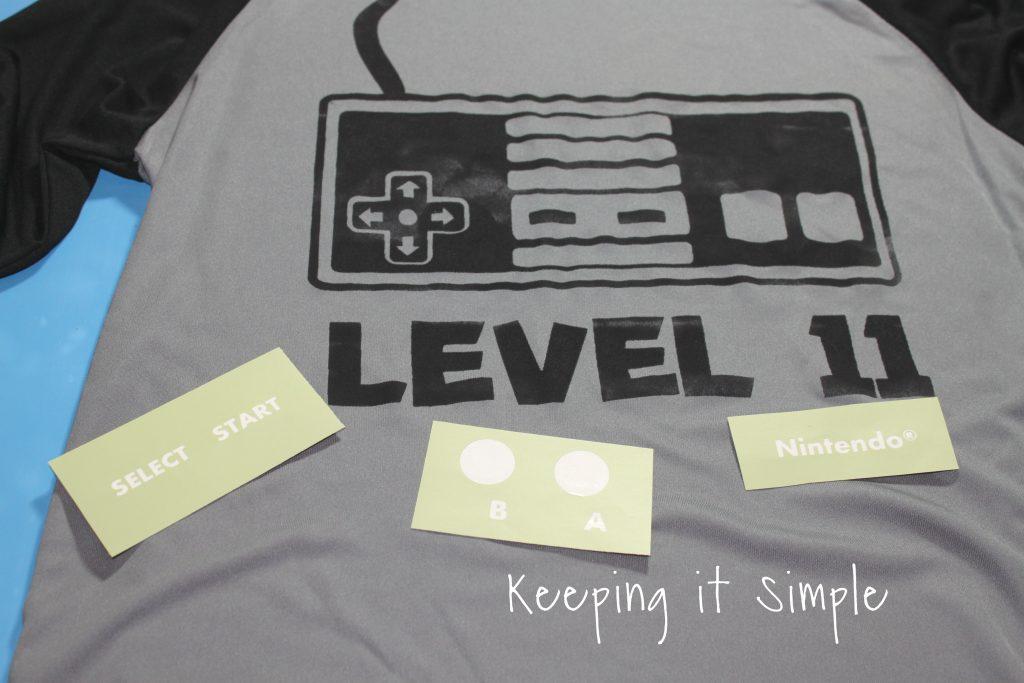 Classic Nintendo Controller Birthday Shirt Free SVG Cut File