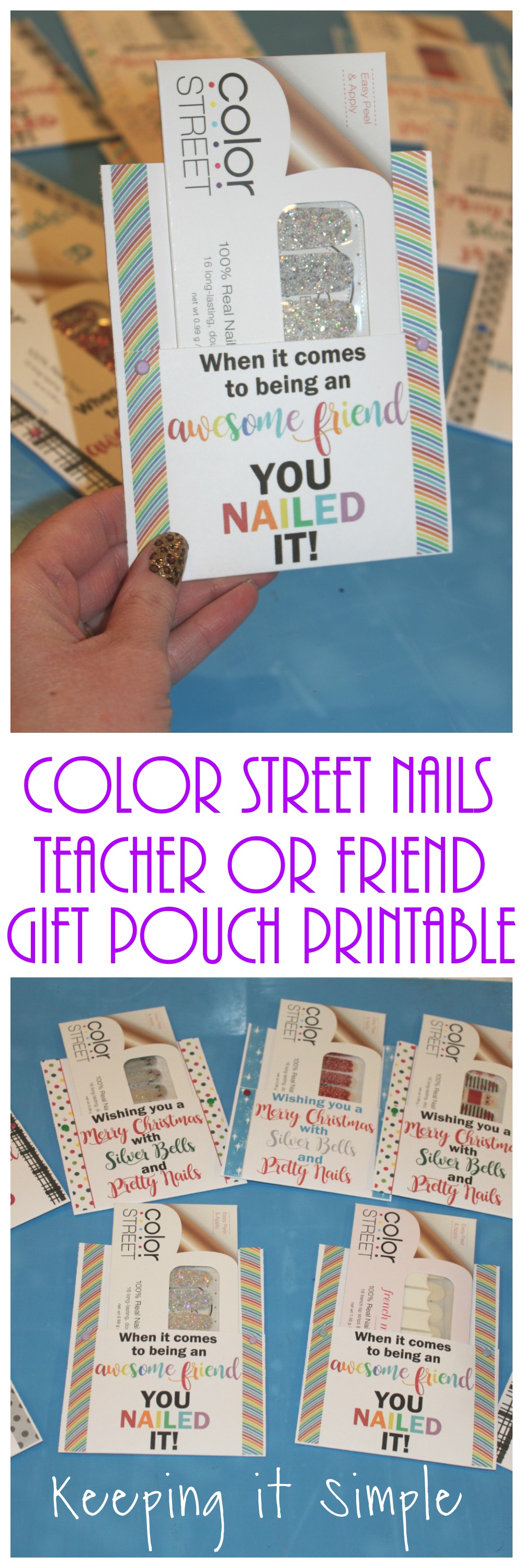 photo relating to Printable Nails referred to as Colour Highway Nails Instructor or Mate Present Pouch Printable