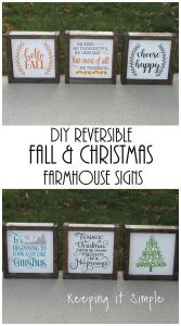 DIY Reversible Farmhouse Sign For Fall and Christmas