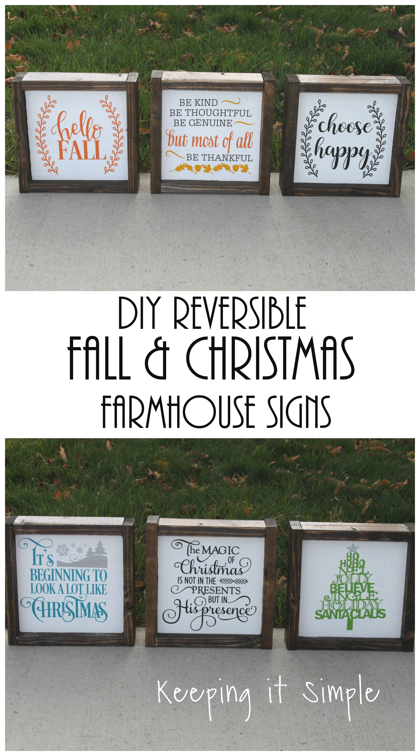 Diy reversible farmhouse sign for fall and christmas for Craft fairs near me november 2017
