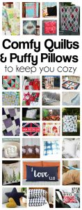 Cozy blankets and Puffy Pillows Ideas {MMM #407 Block Party}