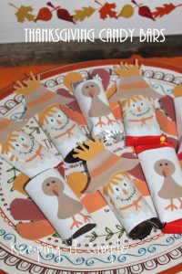 Thanksgiving Candy Bars with Printable Wrapper