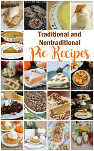Pies!! Traditional and Non Traditional Pie Recipes {MMM #408 Block Party}