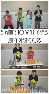 5 Minute to Win It Games using Plastic Cups