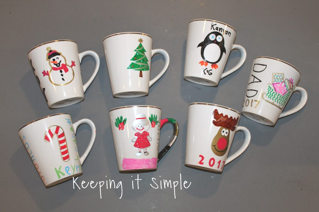 DIY Personalized Christmas Mugs • Keeping it Simple