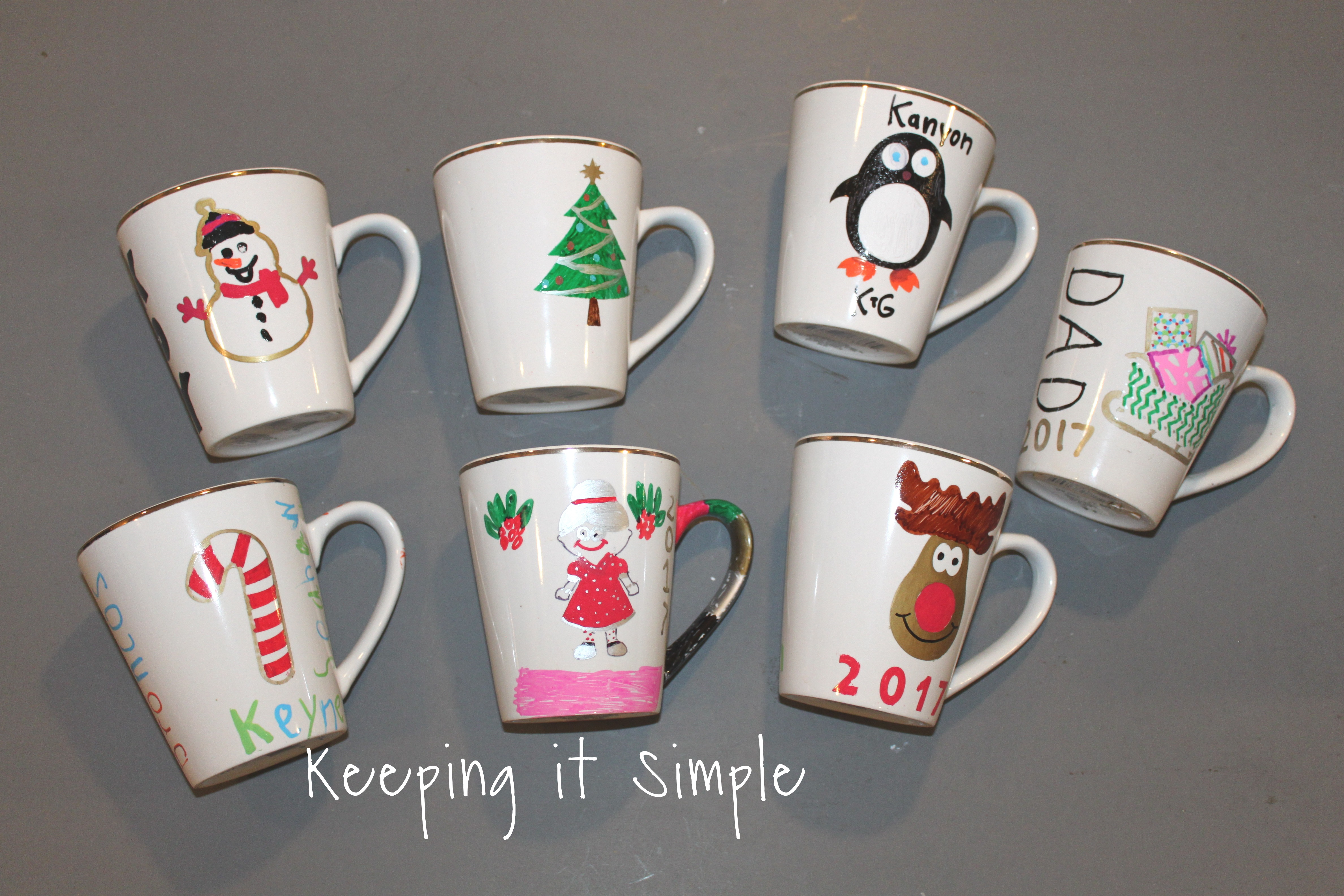 diy personalized christmas mugs 162 - Cheap Christmas Mugs