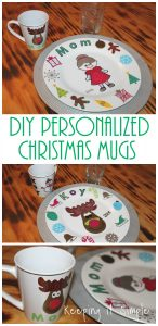 DIY Personalized Christmas Mugs