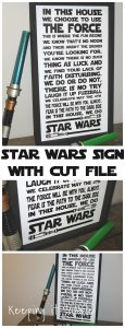 Star Wars Sign with SVG Cut File