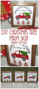 Christmas Tree Farm Sign {with Cut File}