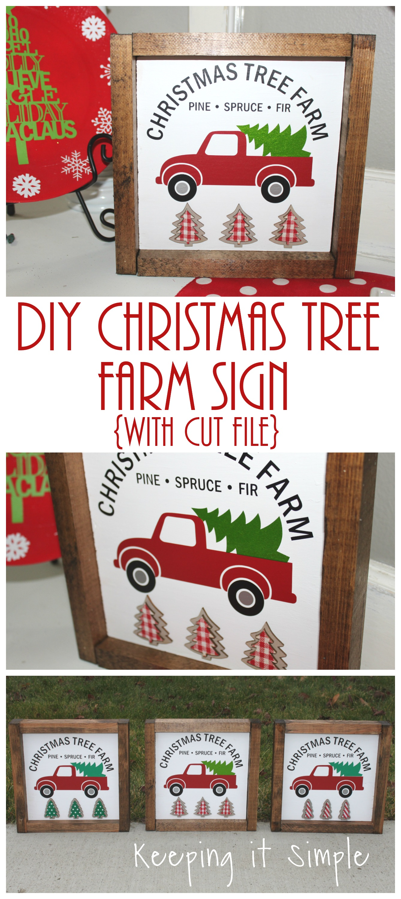 Christmas Tree Farm Sign With Cut File Keeping It Simple