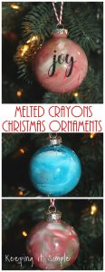 Homemade Christmas Ornaments- Melted Crayon Ornaments