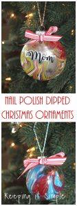 Nail Polish Dipped Christmas Ornaments