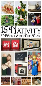 Christmas Nativity Traditions and Crafts {MMM #411 Block Party}
