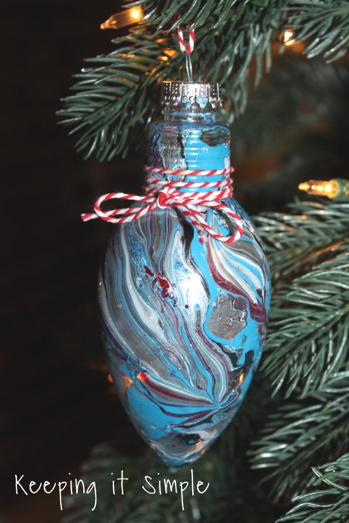 Nail Polish Dipped Christmas Ornaments Keeping It Simple