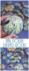Painted Rocks -Nail Polish Dipped Rocks
