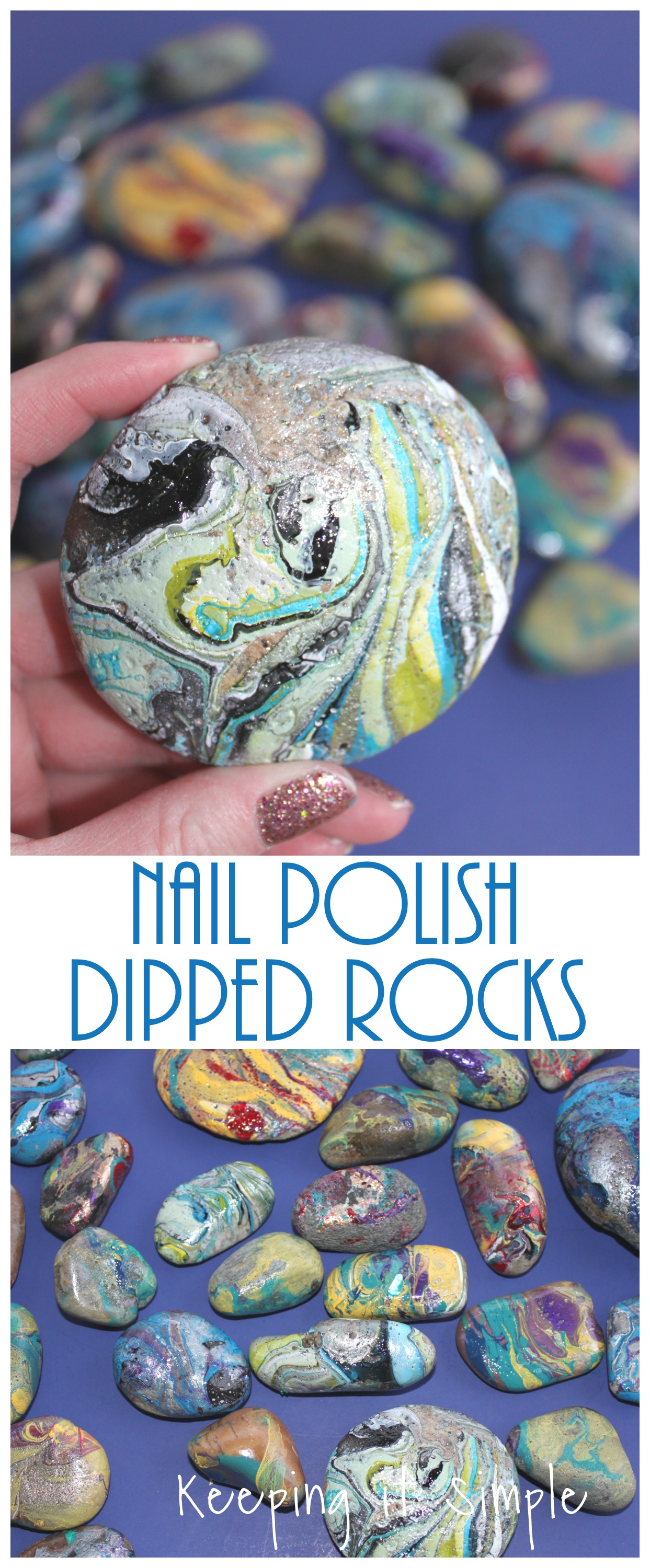 Painted rocks nail polish dipped rocks keeping it simple for Where to buy rocks for crafts